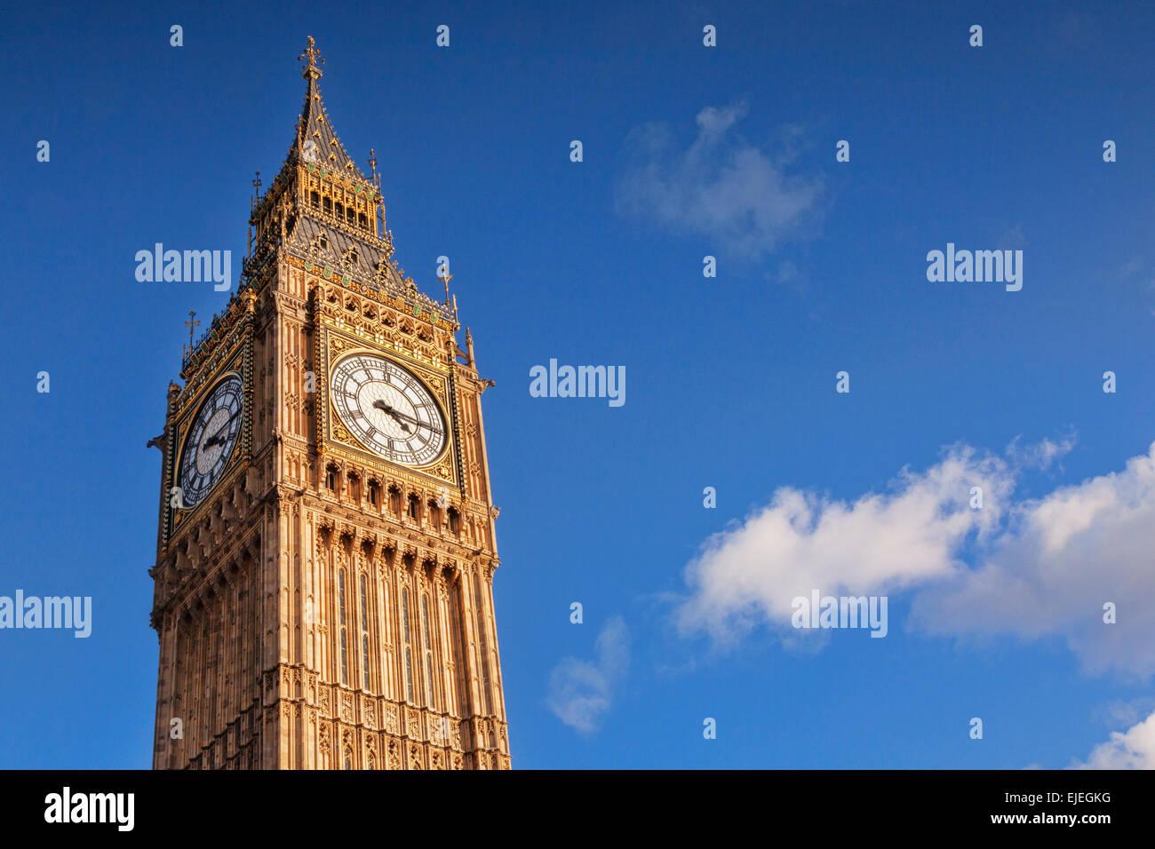 Big Ben, Westminster, London, England. - Stock Image