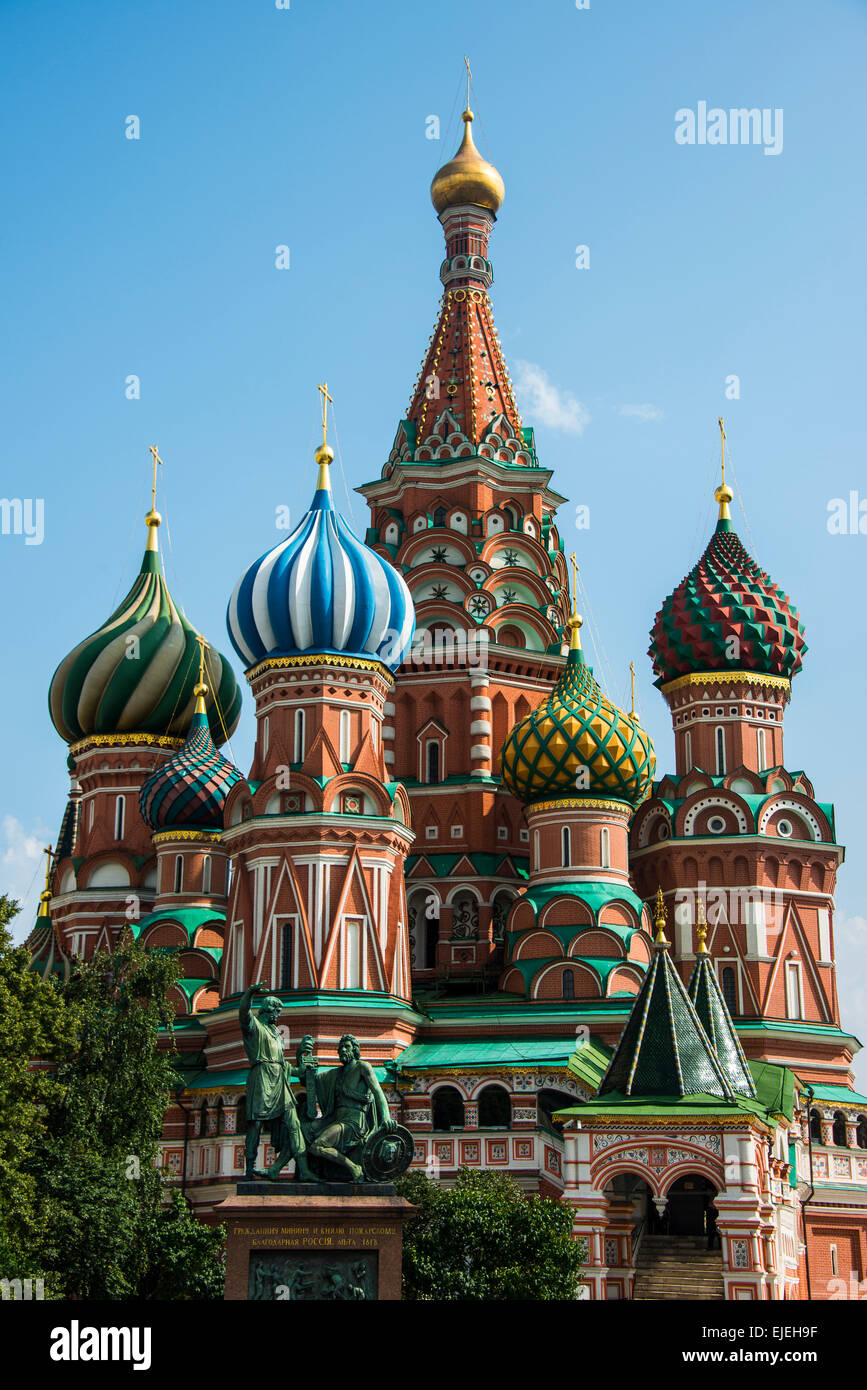 St. Basil´s cathedral on the red square, Moscow, Russia - Stock Image
