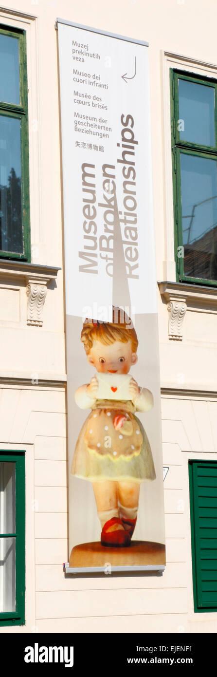Zagreb, Museum of broken Relationships. - Stock Image