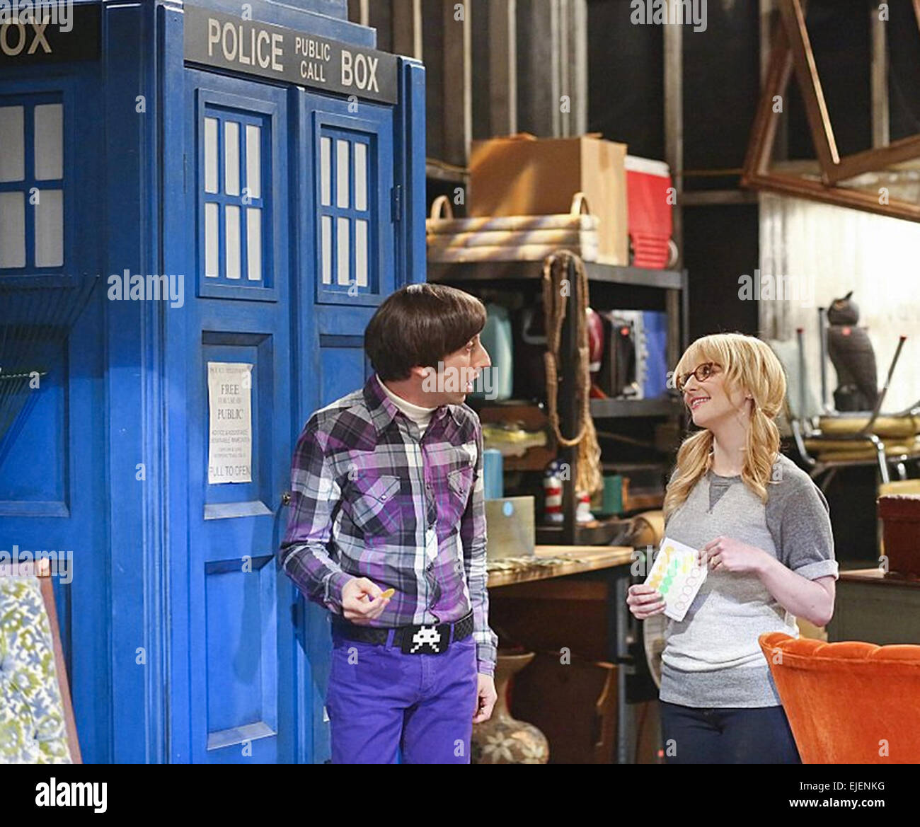 THE BIG BANG THEORY, The Skywalker Incursion   2007 WBEI film - Stock Image
