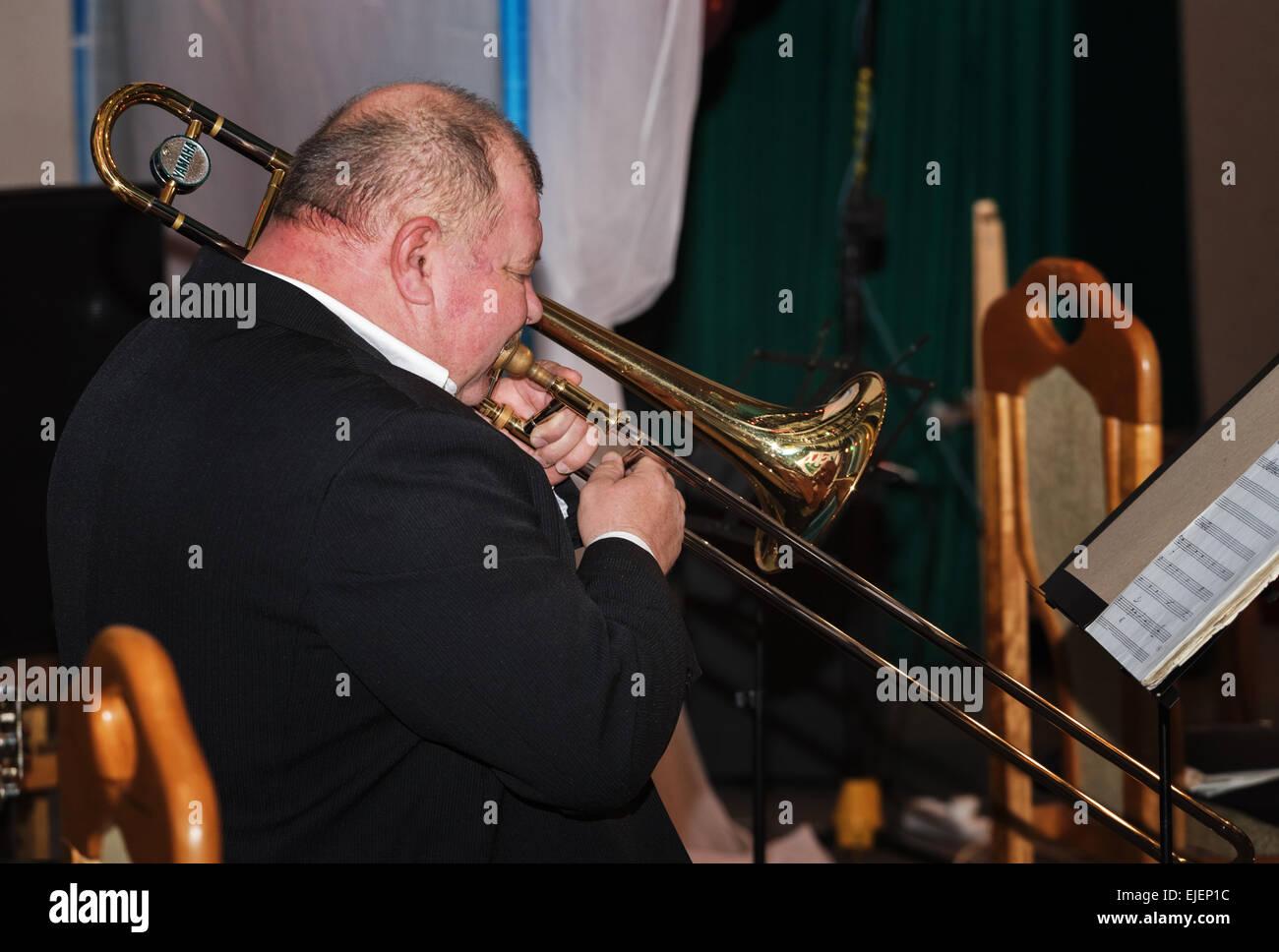 Contrabass Trombone Stock Photos & Contrabass Trombone Stock
