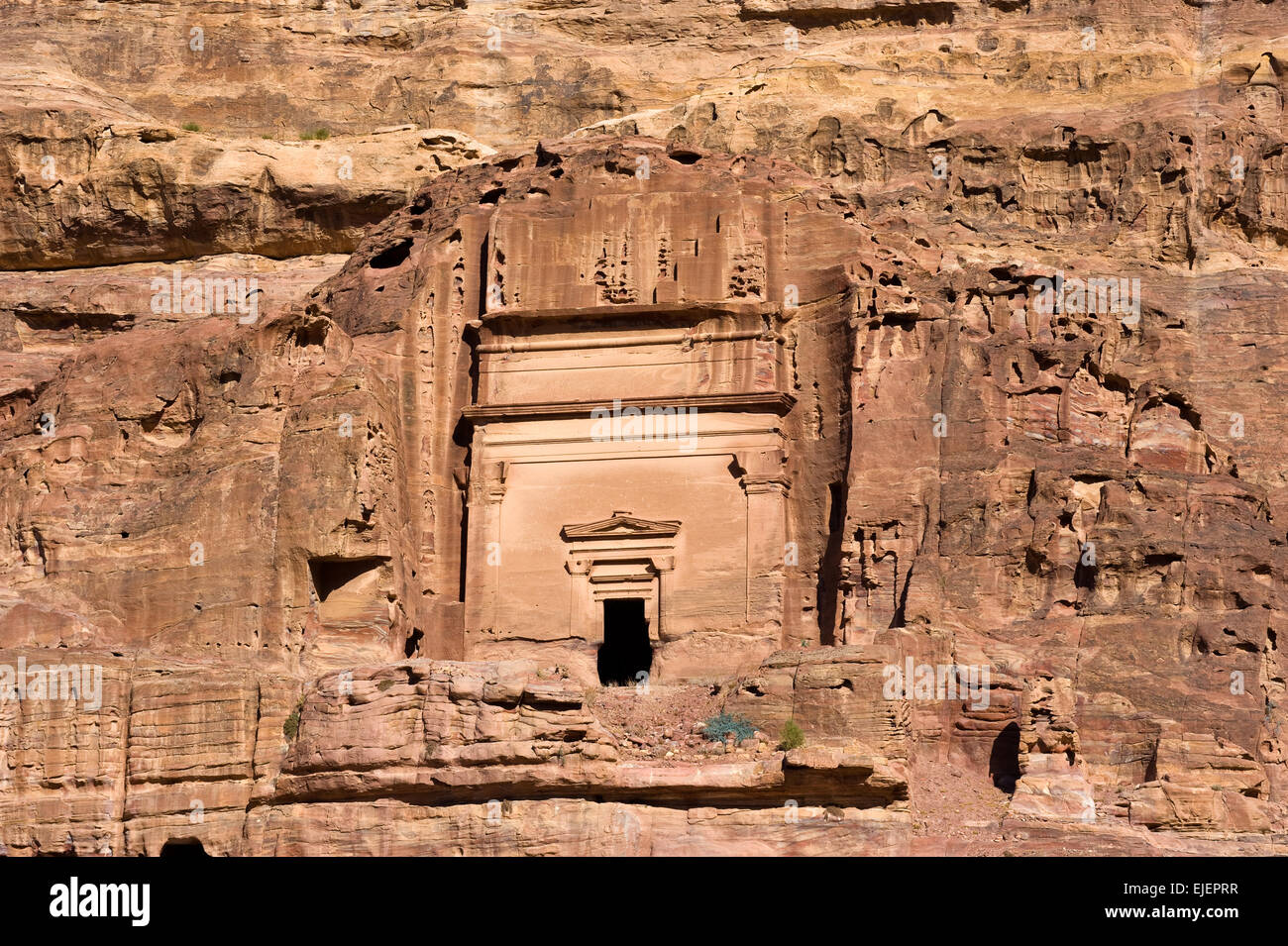 One of the tombs in Petra in Jordan - Stock Image