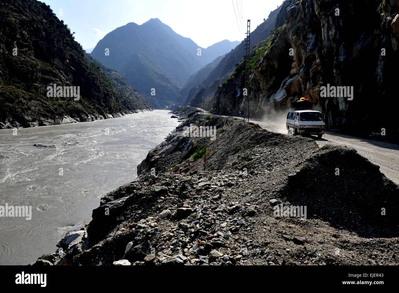 Karakoram Highway ,Pakistan, Gilgit, Baltistan, - Stock Image