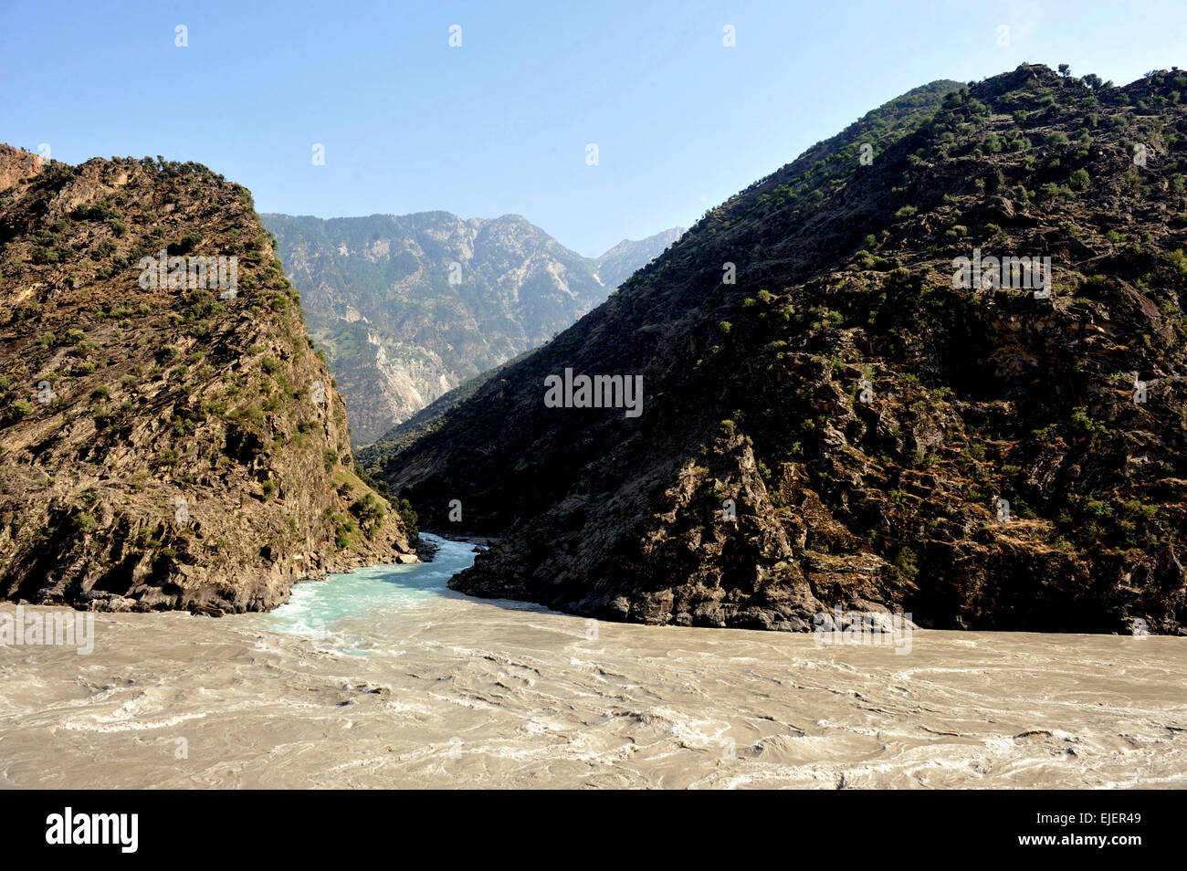 Hunza river, Karakoram Highway ,Pakistan, Gilgit, Baltistan,Gilgit-Baltistan, Hunza River, Pakistan, 2010. - Stock Image