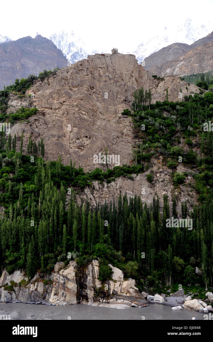 Altit Fort, Hunza valley, Himalayas, Pakistan - Stock Image