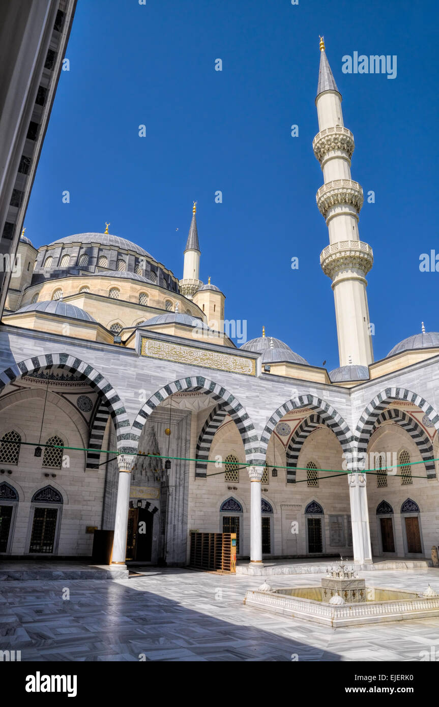 Mosque in Ashgabat, capital city of Turkmenistan - Stock Image