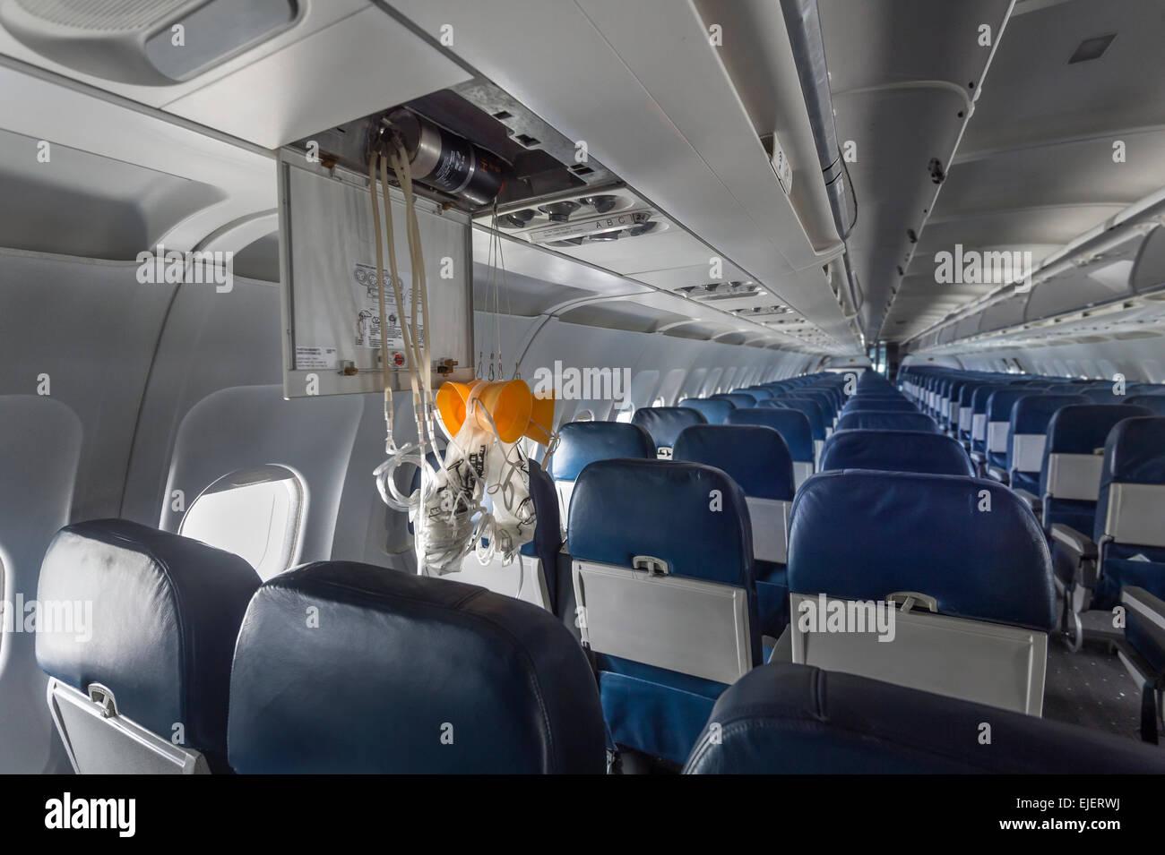 Oxygen Masks, Airplane Interior