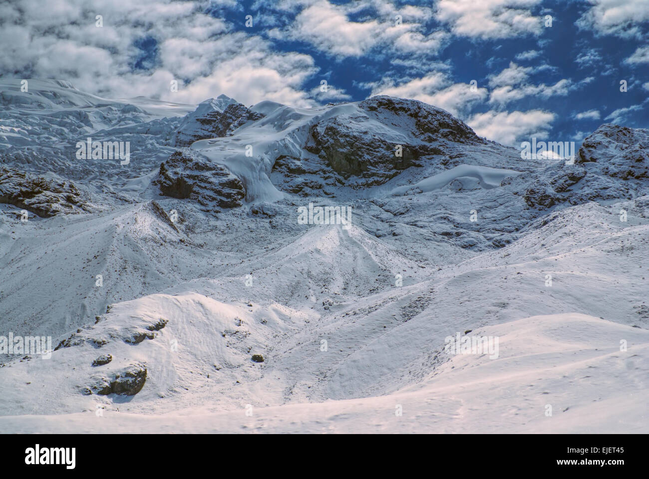 Scenic view of high altitude south american Andes in Peru, Ausangate - Stock Image
