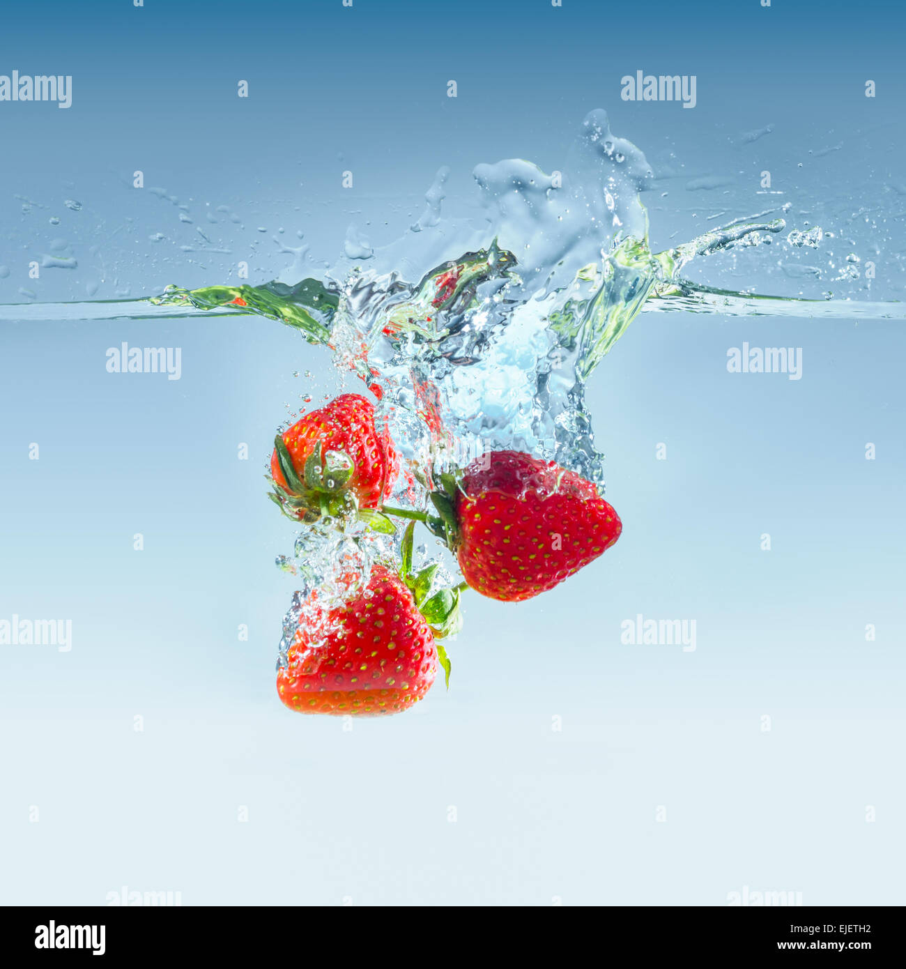 Strawberry's in water - Stock Image
