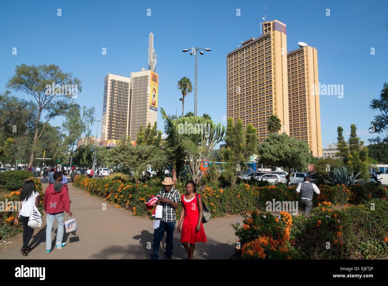 Central park. Downtown Nairobi. Kenya. - Stock Image