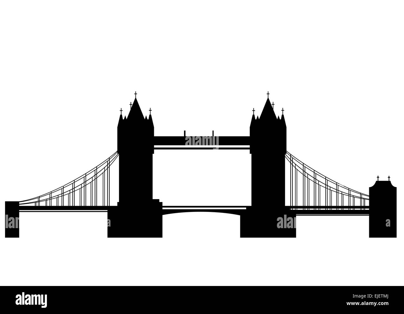 Tower Bridge - vector - Stock Vector