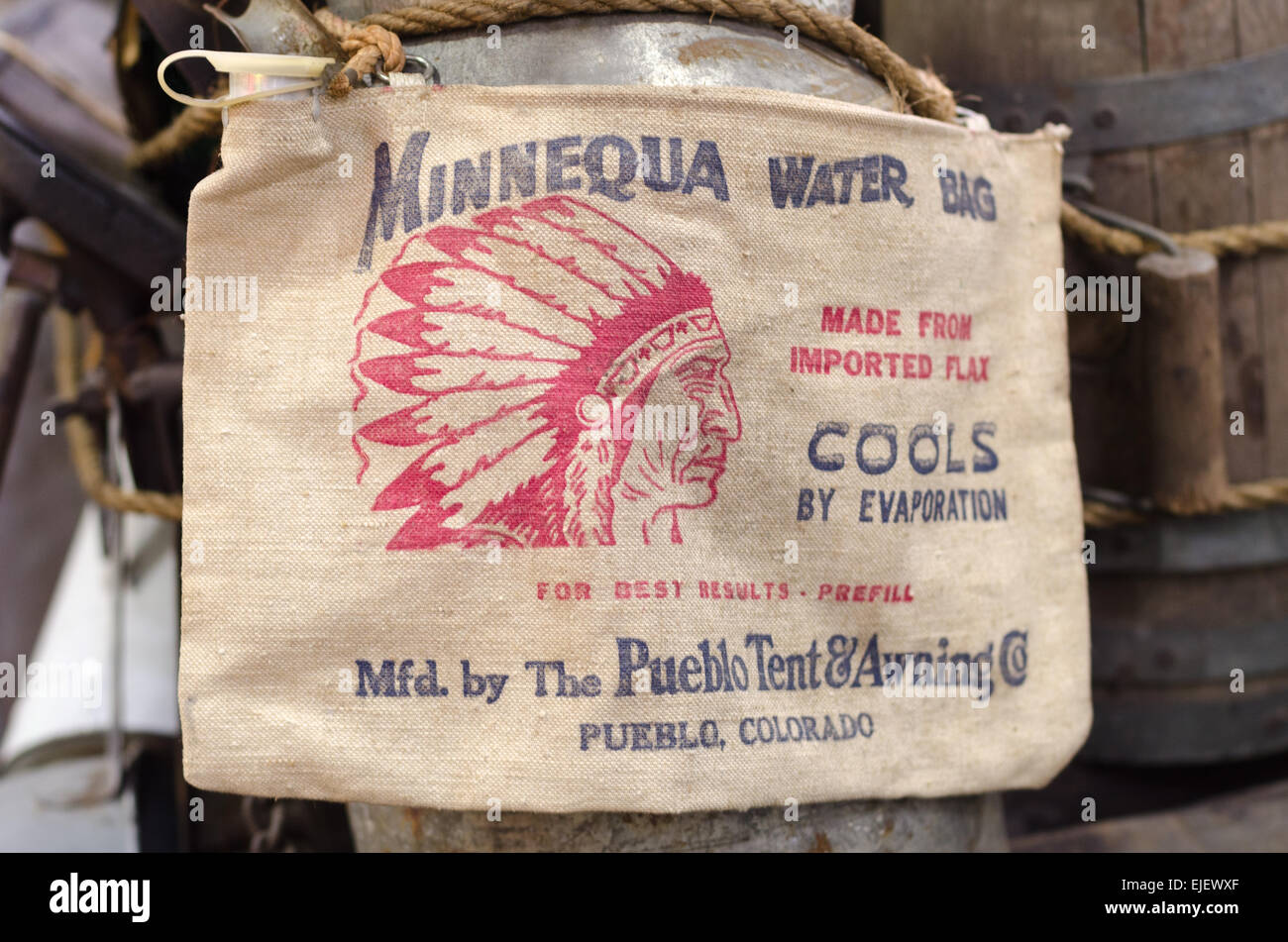 Water bag used on older cars for spare radiator water and even water ...