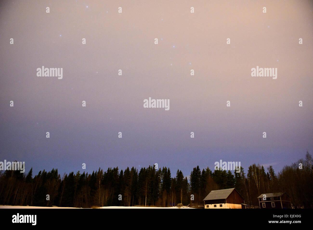 Northern Swedish countryside. - Stock Image