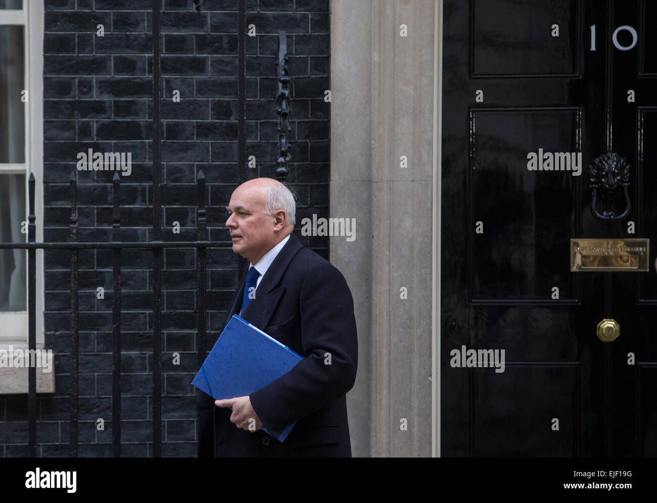 Iain Duncan Smith,Secretary of state for work and pensions,in Downing street - Stock Image