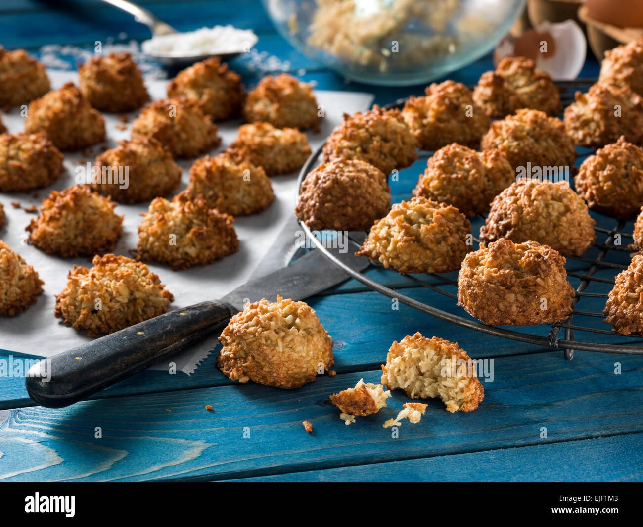 Coconut macaroons - Stock Image