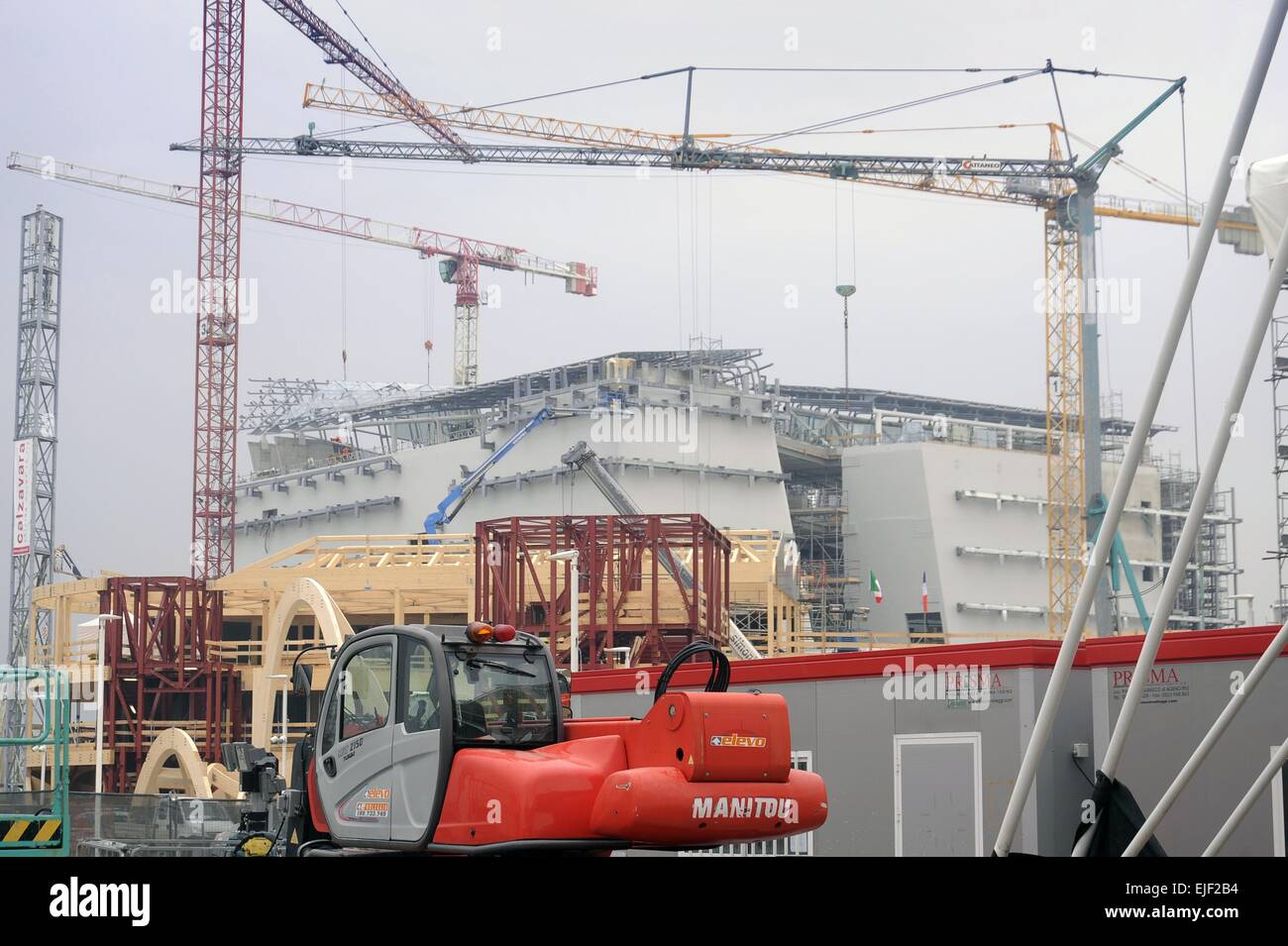 Milan (Italy), construction site for the World Exhibition Expo 2015 - Stock Image