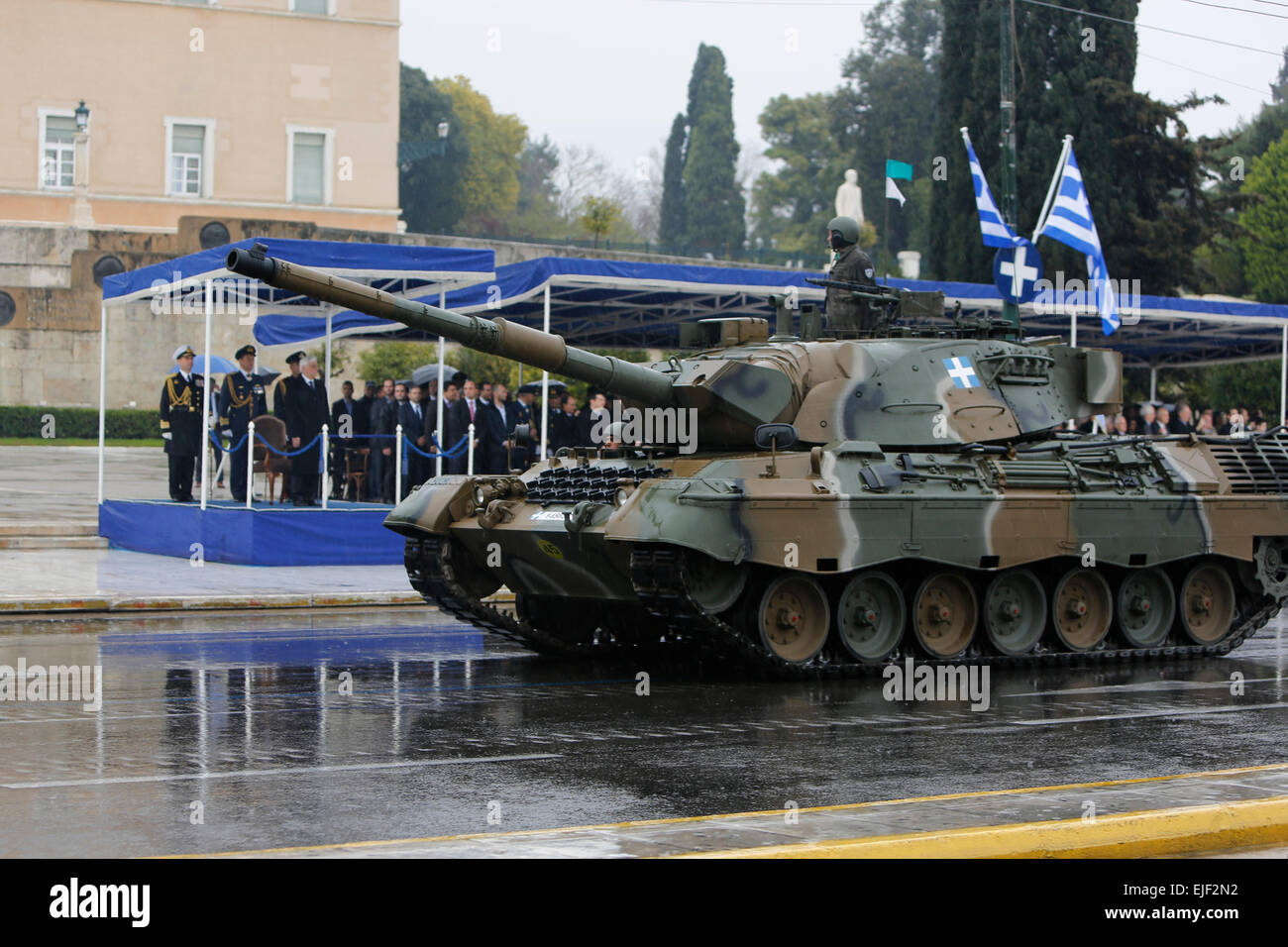 Athens, Greece  25th March 2015  Two German Leopard 1 Main