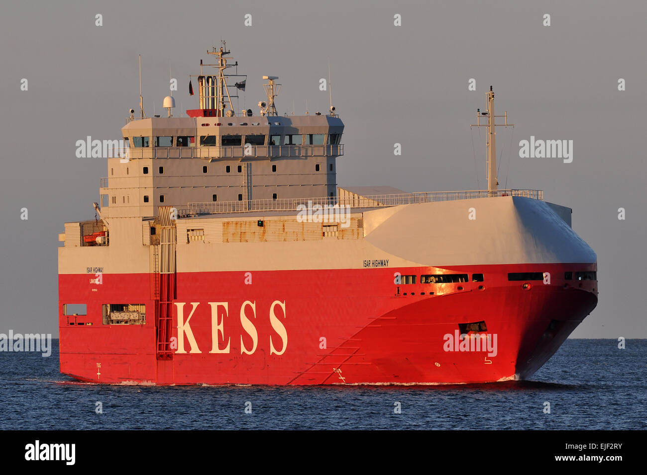 Carcarrier Isar Highway entering Kiel Fjord bound for Kiel-Canal - Stock Image