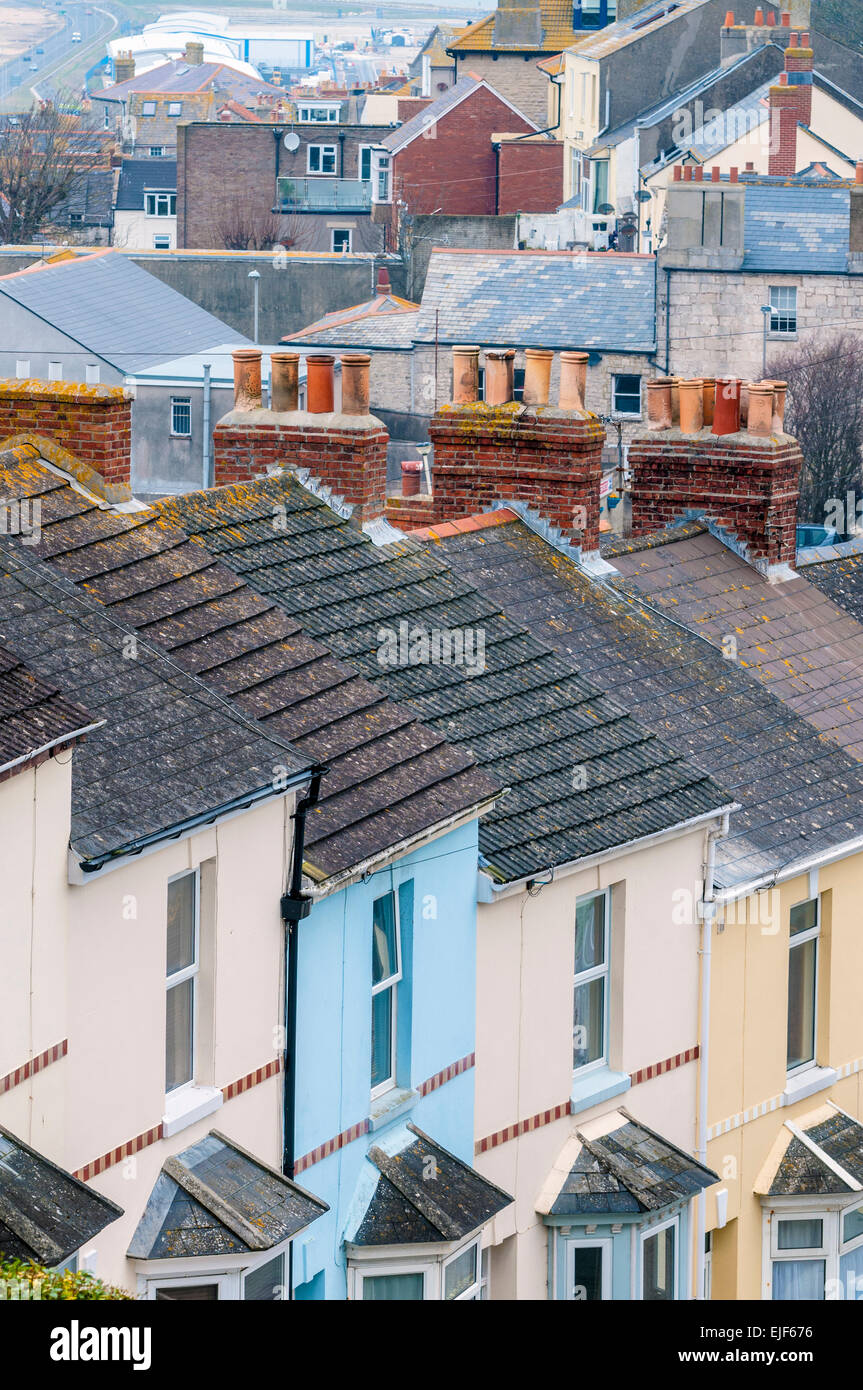 View across rooftops - Stock Image