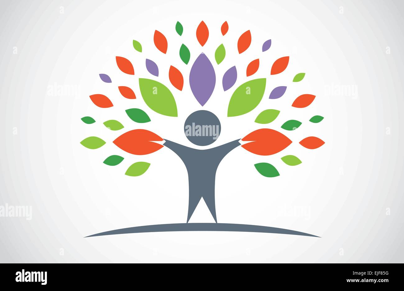 Tree People Stock Vector
