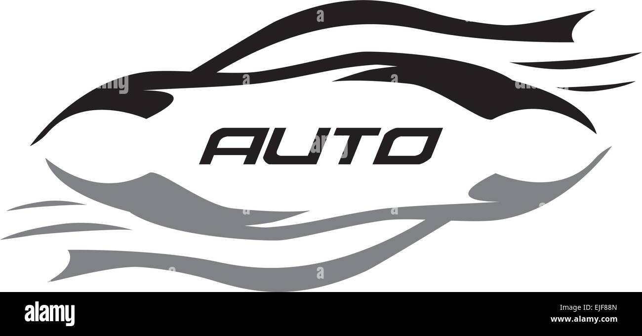 Vector Logo Car - Stock Image
