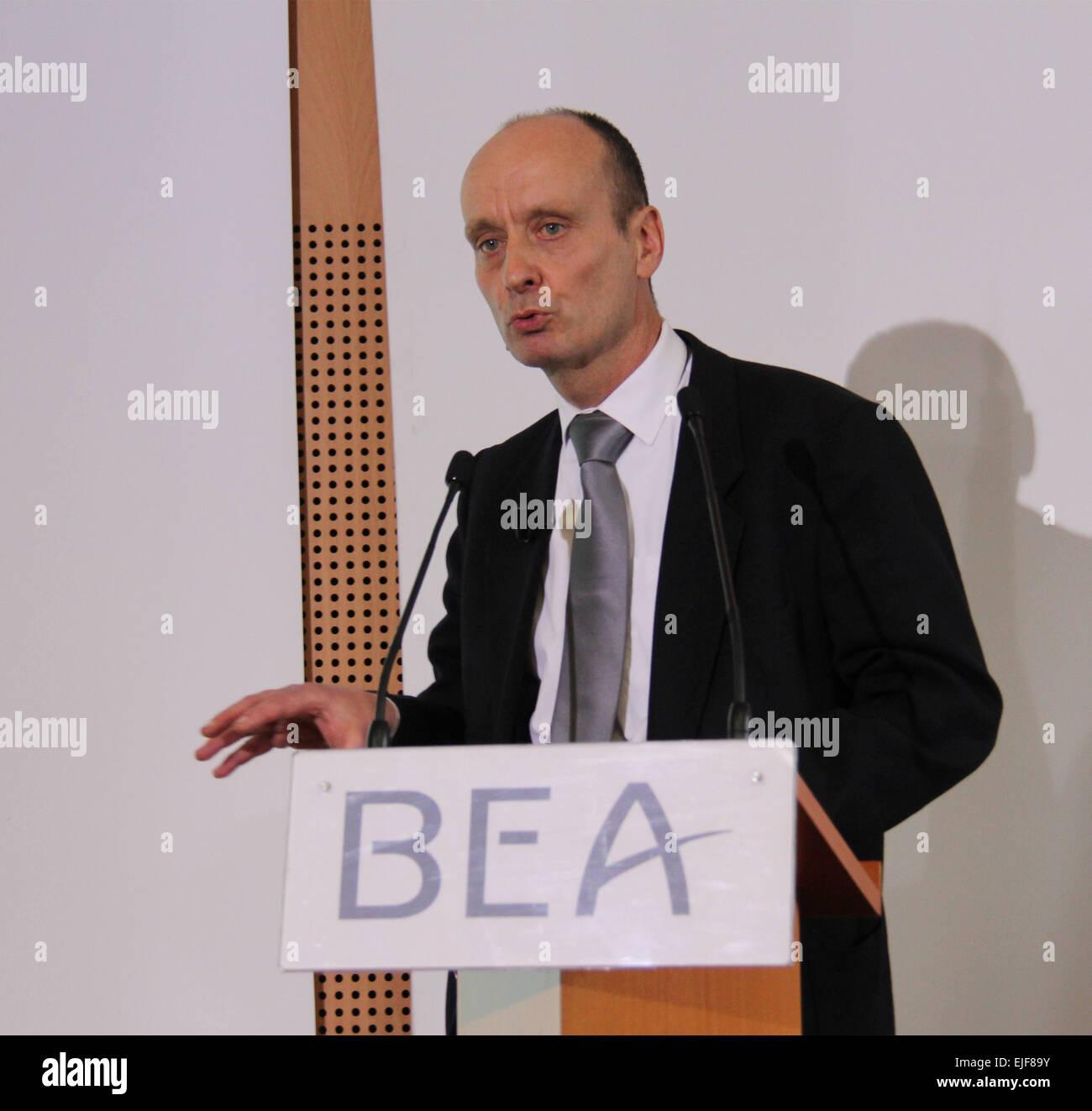 Paris, France  25th Mar, 2015  Remi Jouty, general director