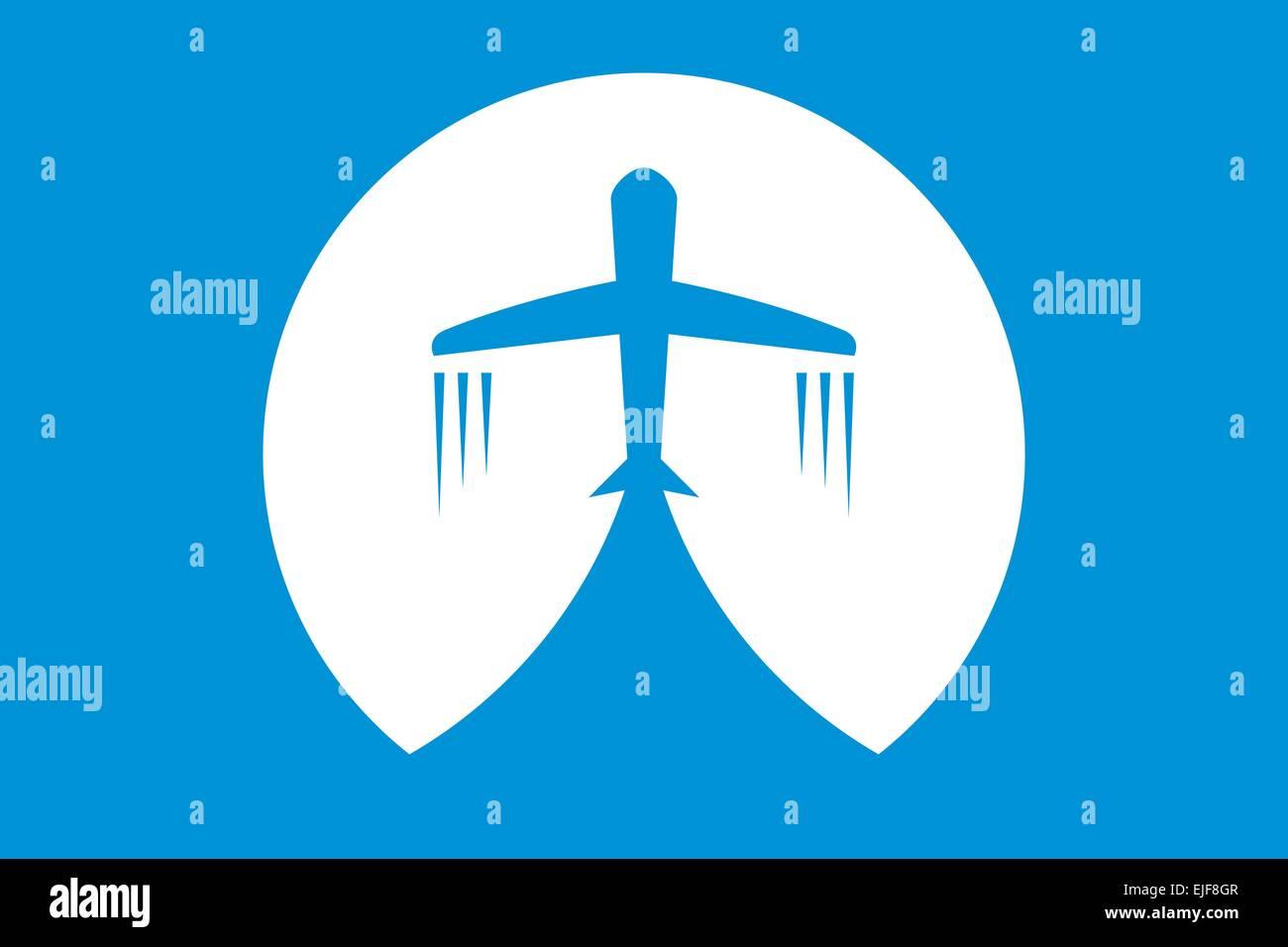 Airplane - vector logo concept. Aircraft illustration. - Stock Vector