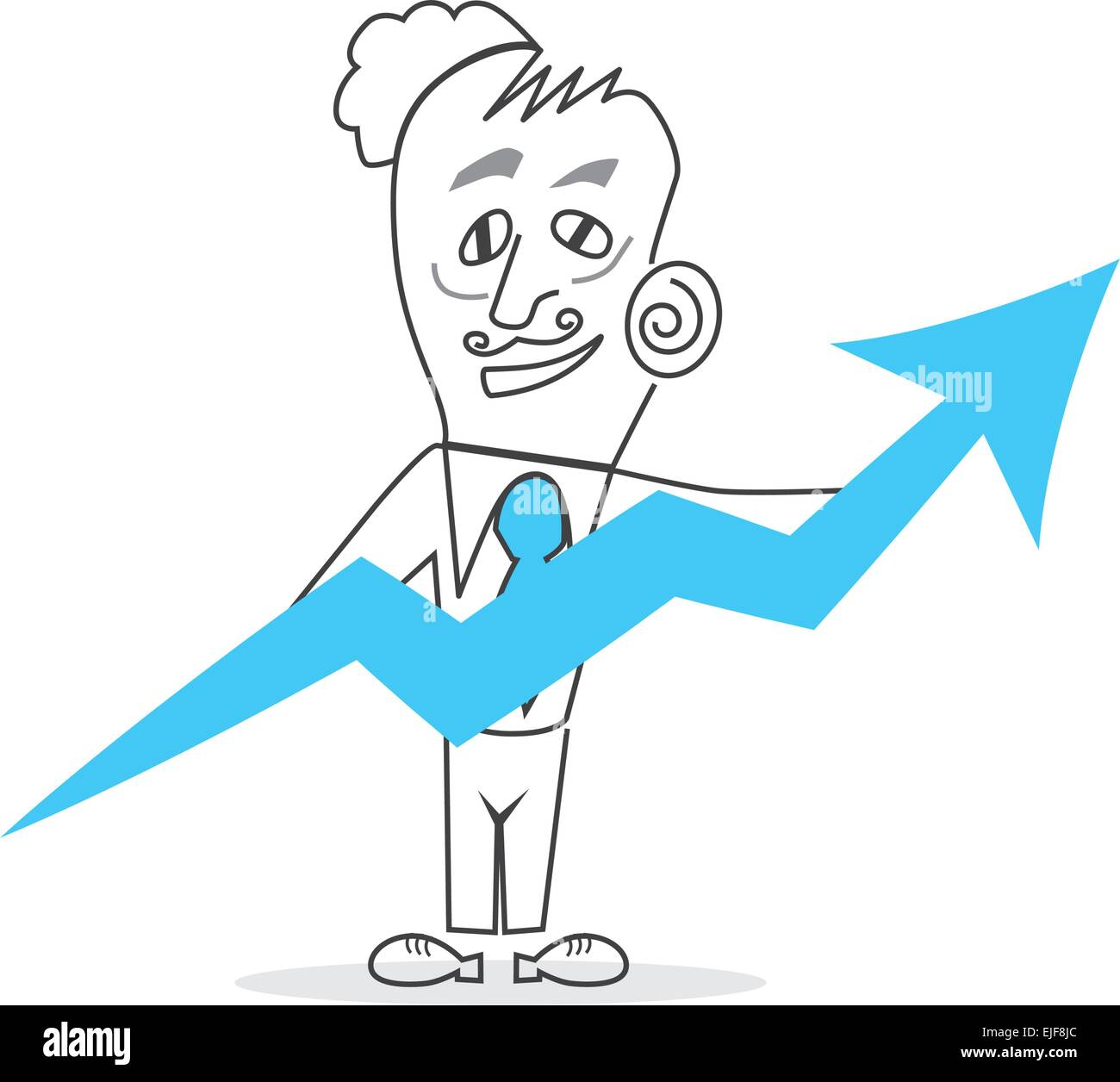 Vector Business Man Stock Vector