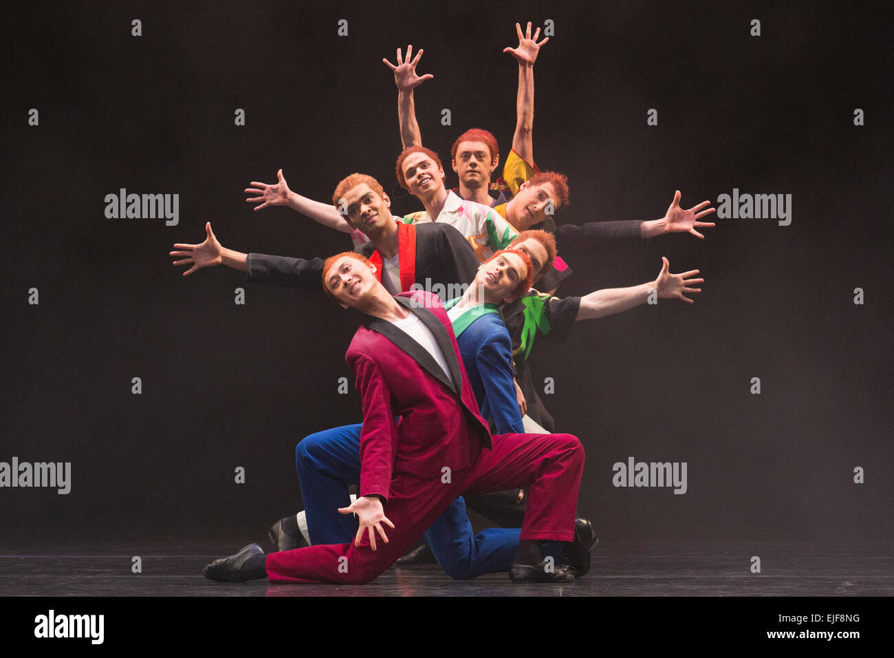 Pictured: Dress rehearsal of Carmina burana, music by Carl Orff with choreography by David Bintley. Section: On - Stock Image
