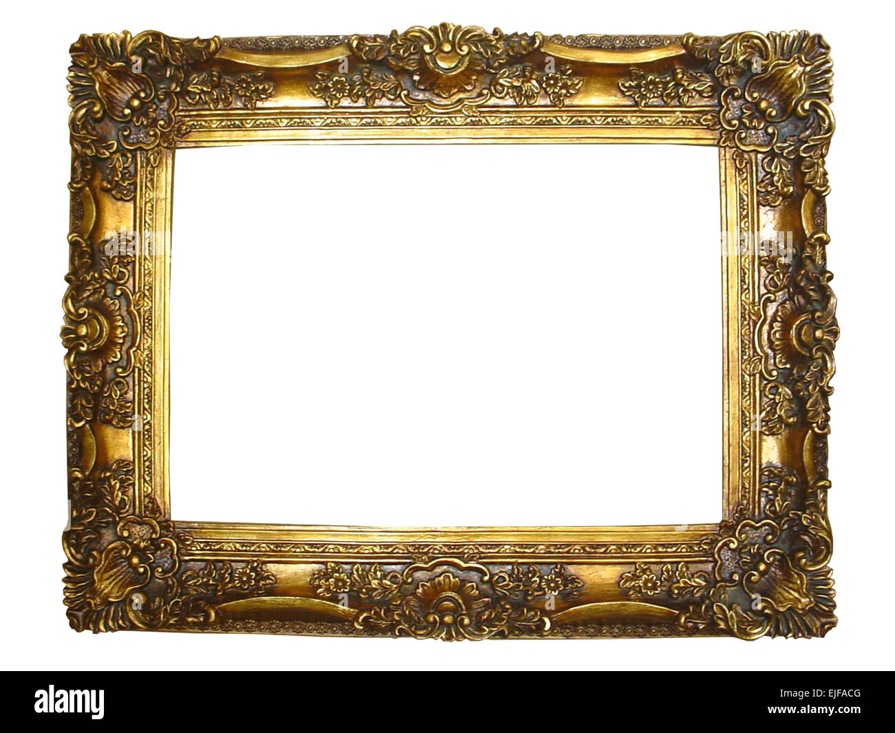 Gilded Gold Photograph frame with carvings and gold details Stock ...