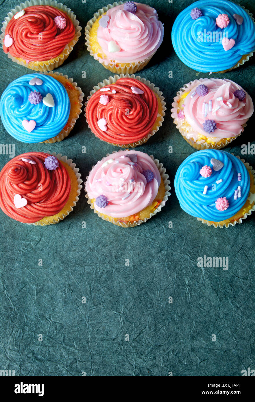 Cupcakes with copyspace - Stock Image