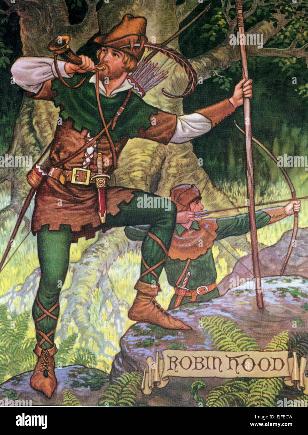 ROBIN HOOD in a late 19th century image - Stock Image