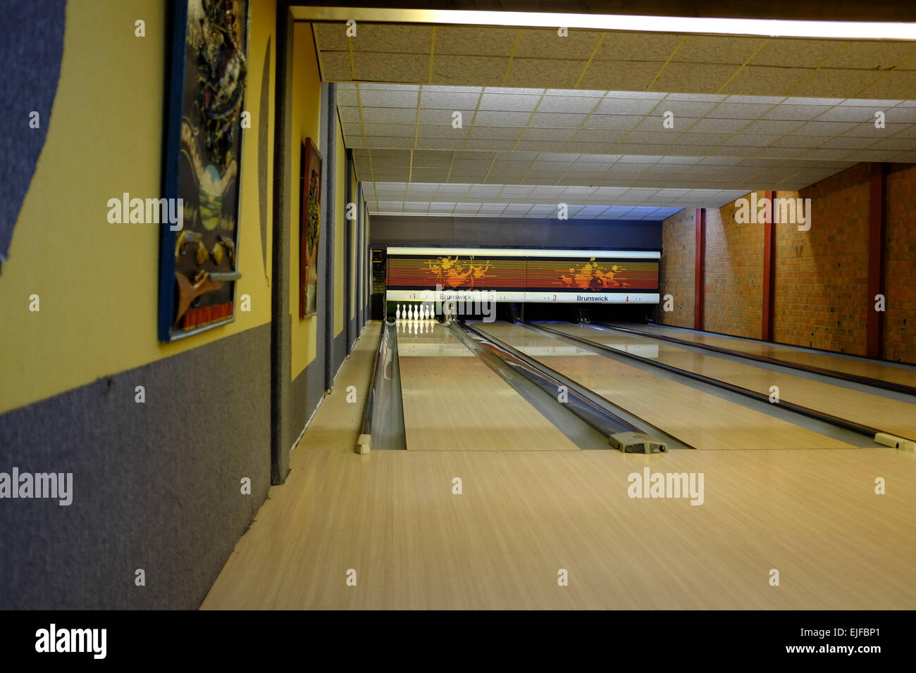 Bowling Alley at In den Stallen, Winschoten, Netherlands - Stock Image