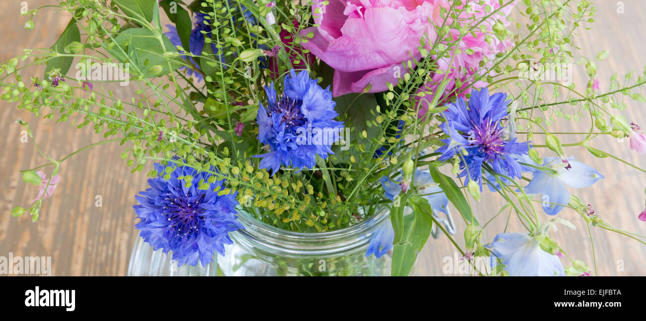 Posy Bunch Of Pretty Attractive Pastel Pink And Blue Spring And
