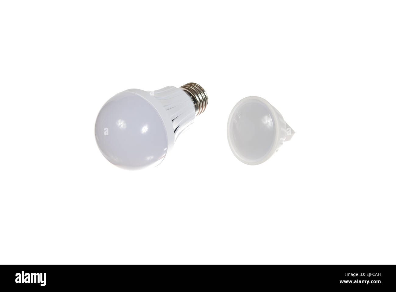 Led lamps are isolated on the white background - Stock Image