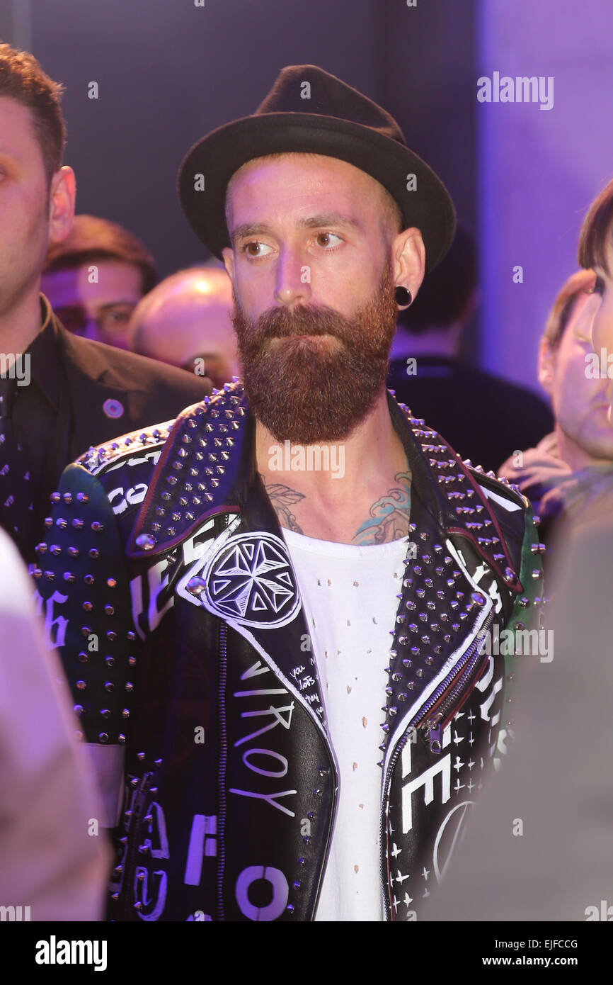 ISTANBUL, TURKEY - MARCH 18, 2015: Footballer Raul Meireles in Lounge of Mercedes-Benz Fashion Week Istanbul - Stock Image