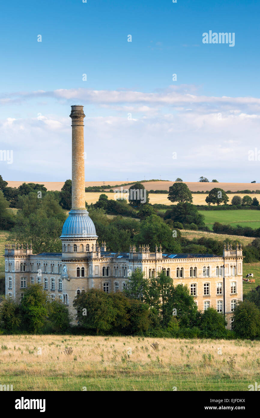 Bliss Mill, restored and renovated 19th Century tweed mill, now apartment homes, Chipping Norton, The Cotswolds, - Stock Image