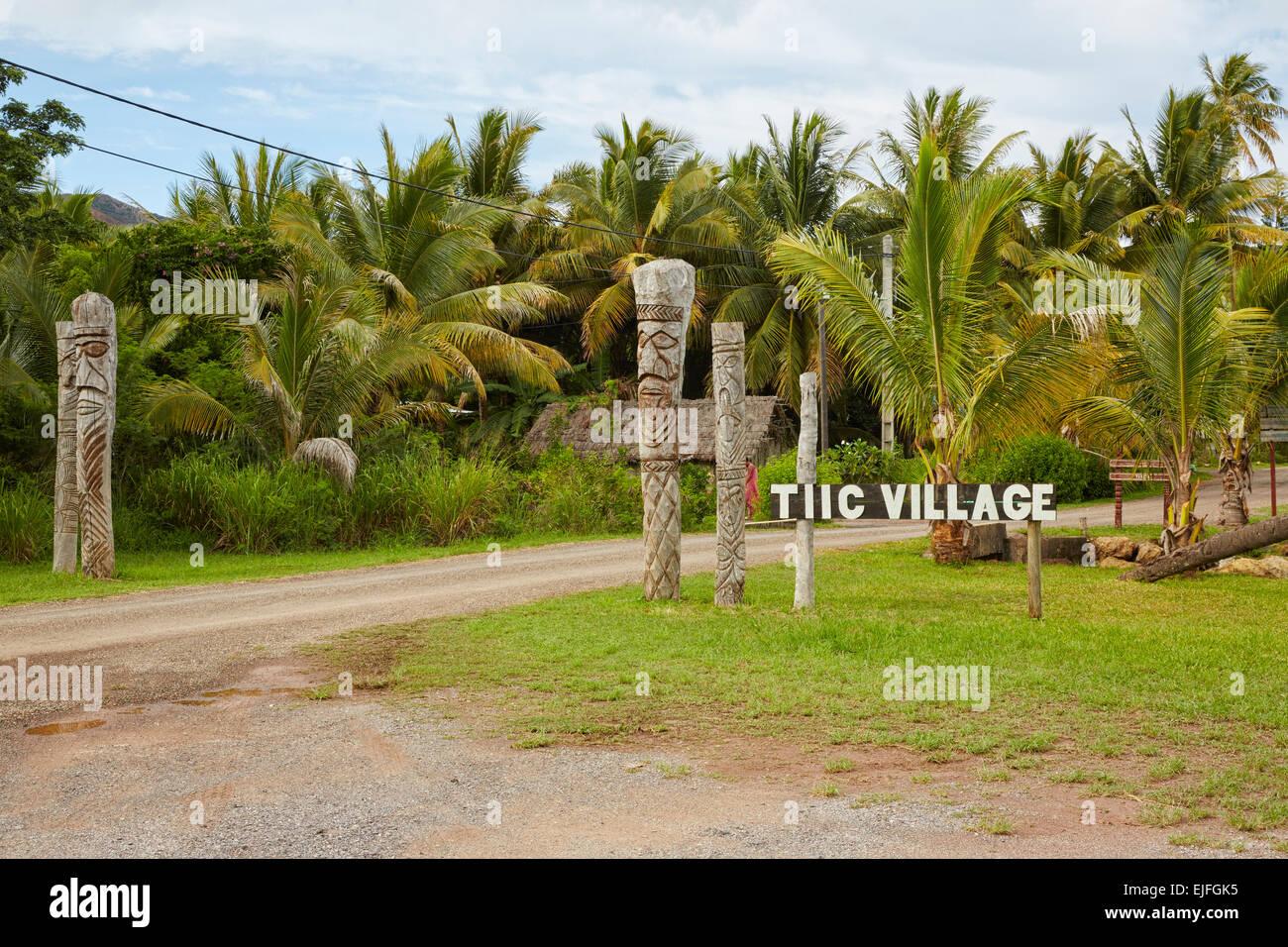 Tiic Village, New Caledonia - Stock Image
