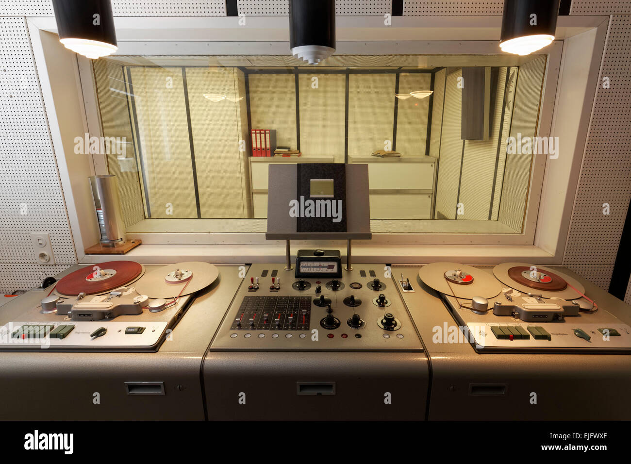 Tape Recorders Stock Photos Images Alamy Room Recorder Analog Recording Studio With Nuclear Bunker Kall Urft Eifel