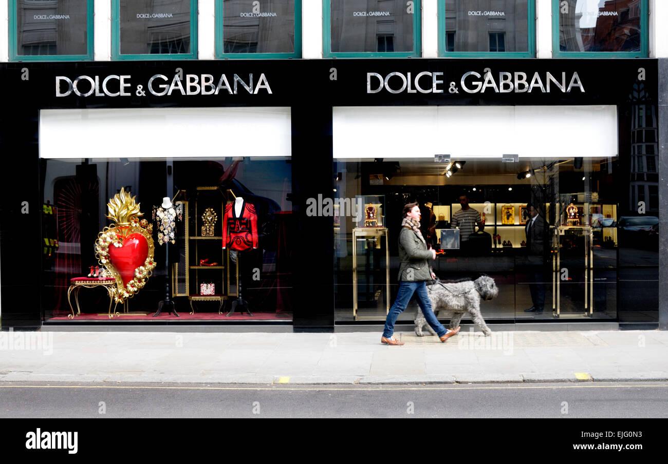 London, England, UK. Dolce & Gabbana shop on Sloane Street, Knightsbridge. - Stock Image