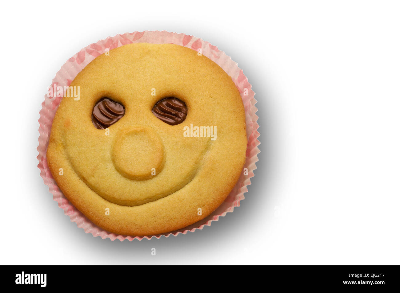 Chocolate filled optimistic pastry with  clipping path - Stock Image