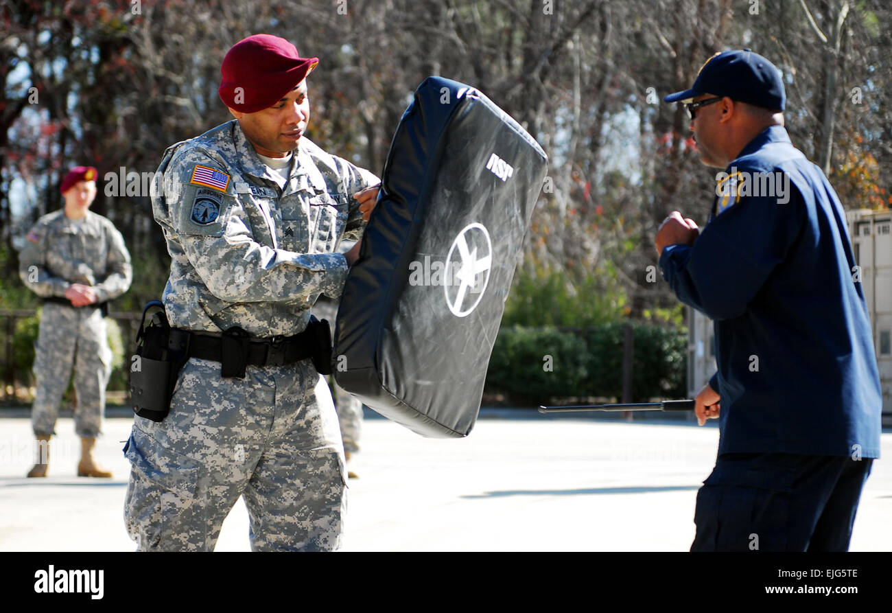 Sgt. Shawn Dean, a military police officer for the 21st Military Police Company, 503rd Military Police Battalion - Stock Image