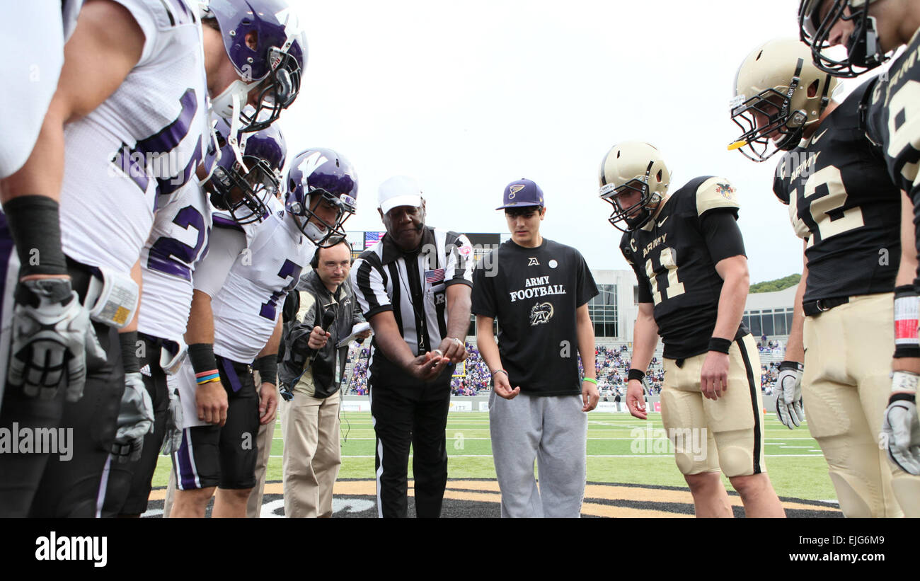 The Coin Toss Before The Start Of The United States Military Academy