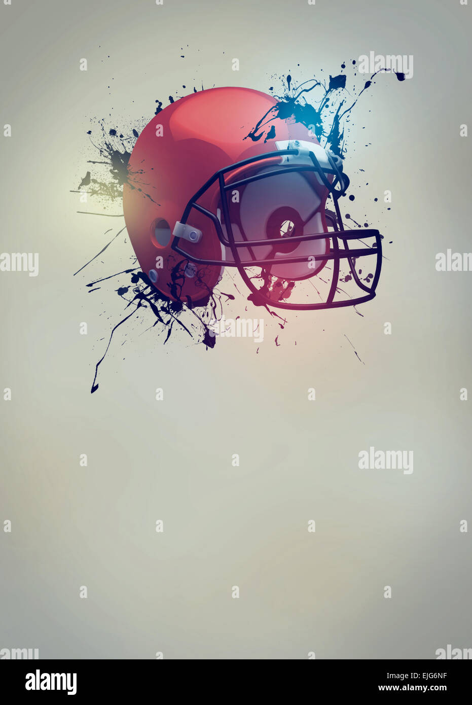 American football sport invitation poster or flyer ...
