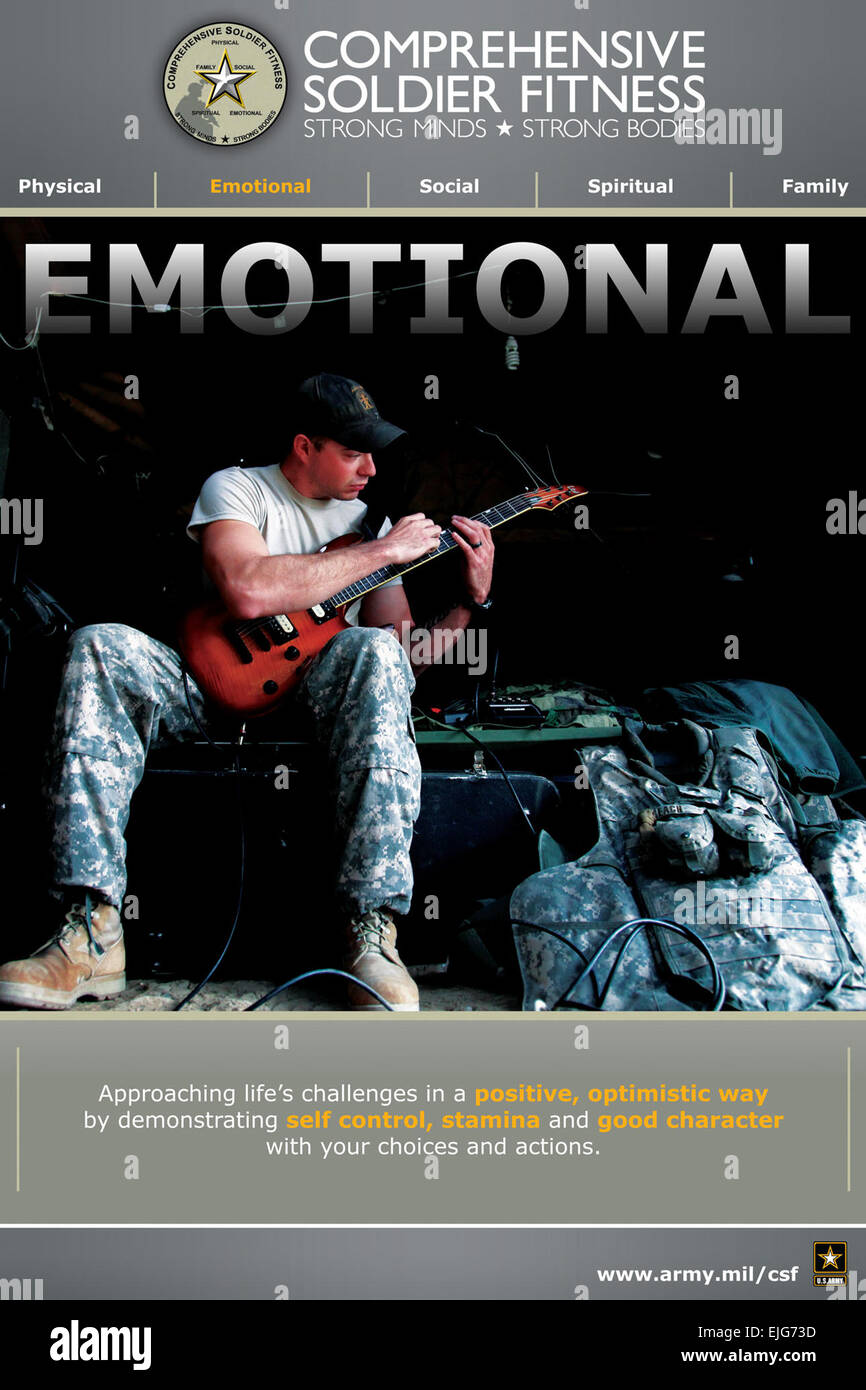 One of the five posters available to help promote understanding about the Army's Comprehensive Soldier Fitness - Stock Image