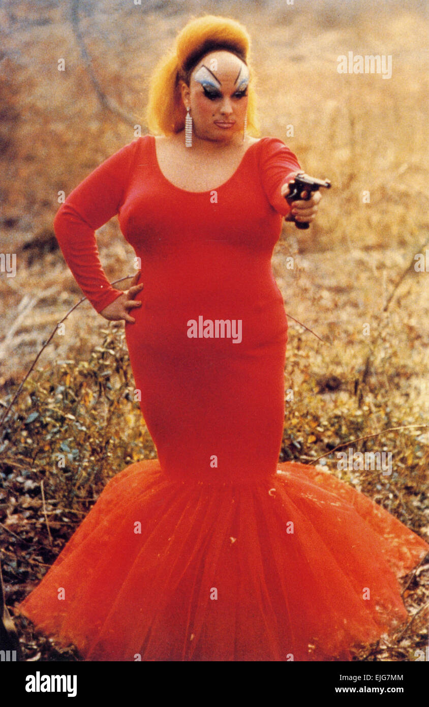PINK FLAMINGO 1972 Dreamland film with Divine - Stock Image