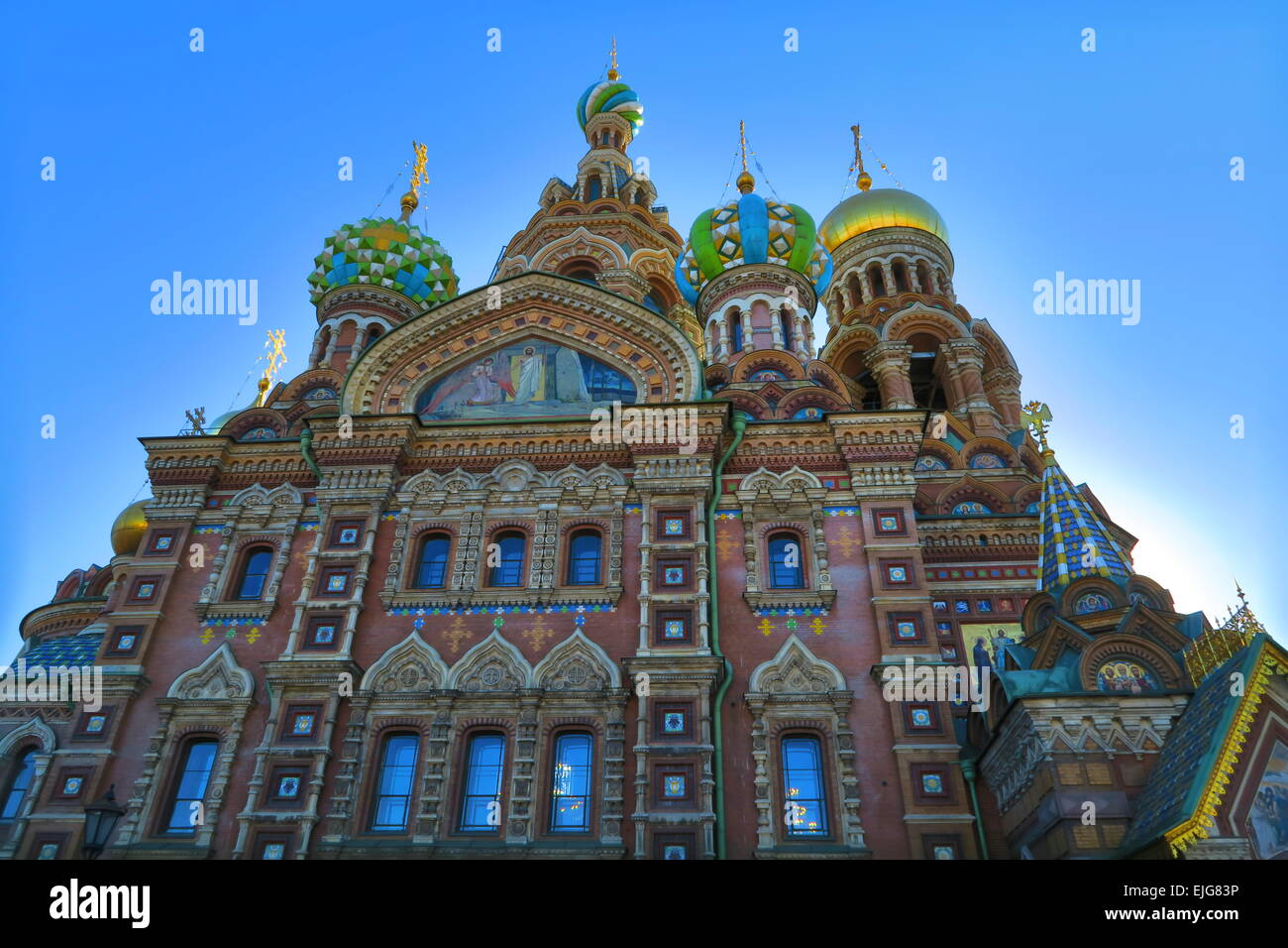 Church of the spilled blood, Saint Petersburg, Russia - Stock Image