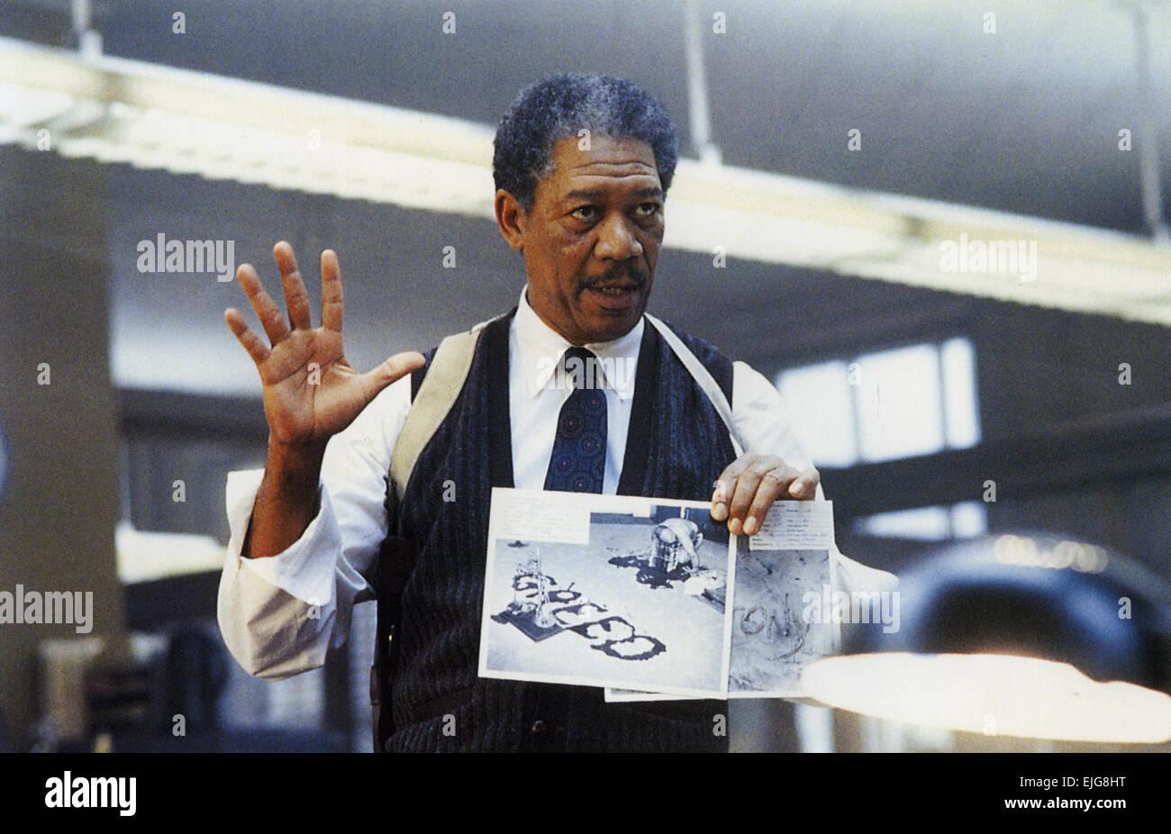 SE7EN 1995 New Line Cinema film with Morgan Freeman - Stock Image