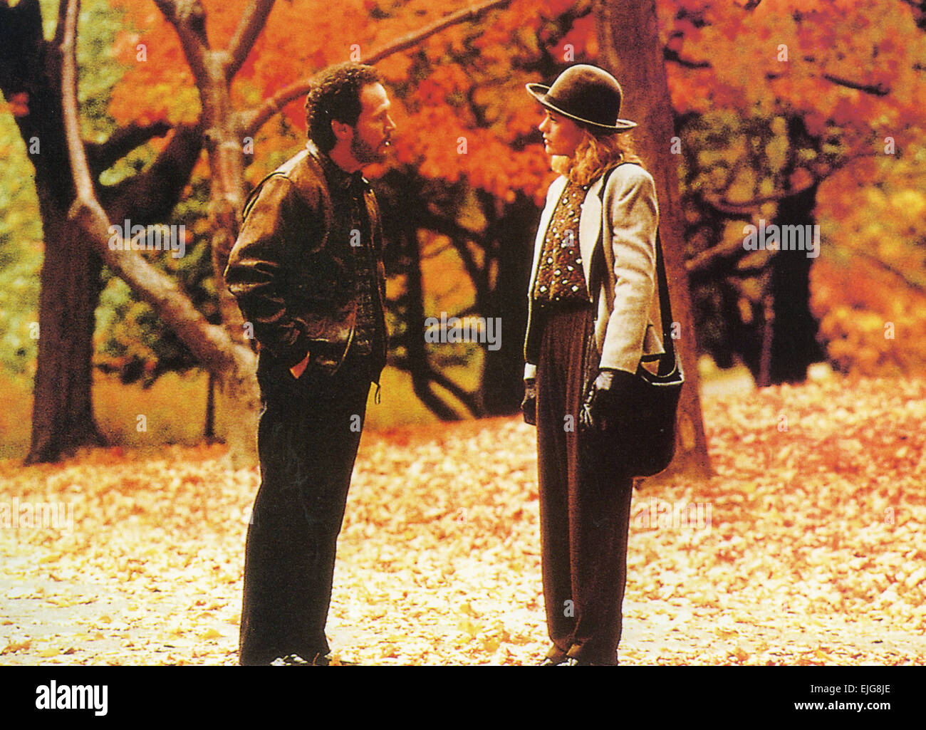 WHEN HARRY MET SALLY 1989 Castle Rock film with Meg Ryan and Billy Crystal - Stock Image