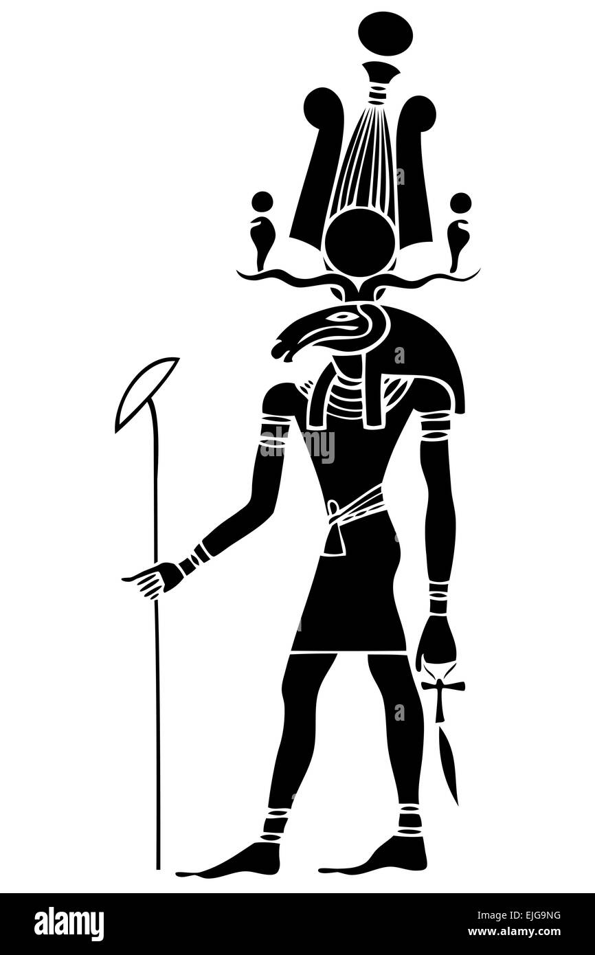 Image of the Khensu - God of ancient Egypt. Khensu is an Ancient Egyptian god whose main role was associated with - Stock Image
